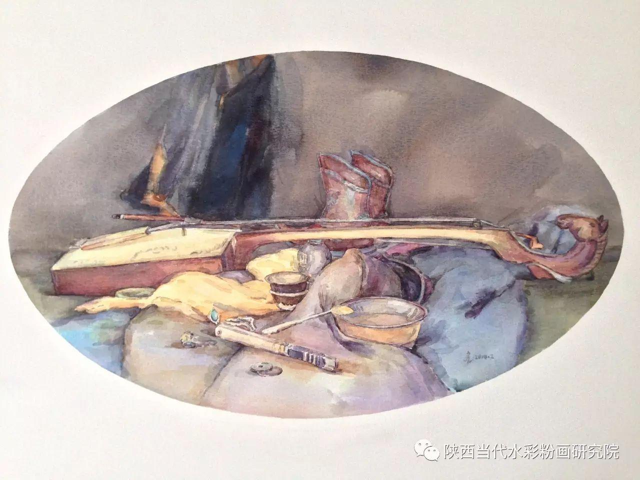 格日乐作品 | 内蒙古艺术家水彩画作品专题微展第24集(总第1121期) 第13张 格日乐作品 | 内蒙古艺术家水彩画作品专题微展第24集(总第1121期) 蒙古画廊