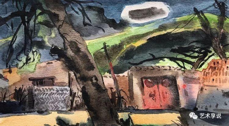 寄性于山水之间 | 塞南水彩 第8张 寄性于山水之间 | 塞南水彩 蒙古画廊