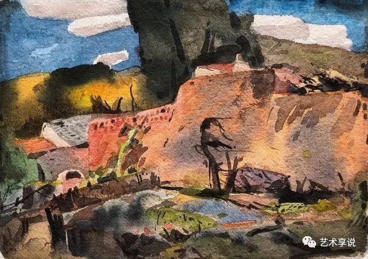 寄性于山水之间 | 塞南水彩 第9张 寄性于山水之间 | 塞南水彩 蒙古画廊