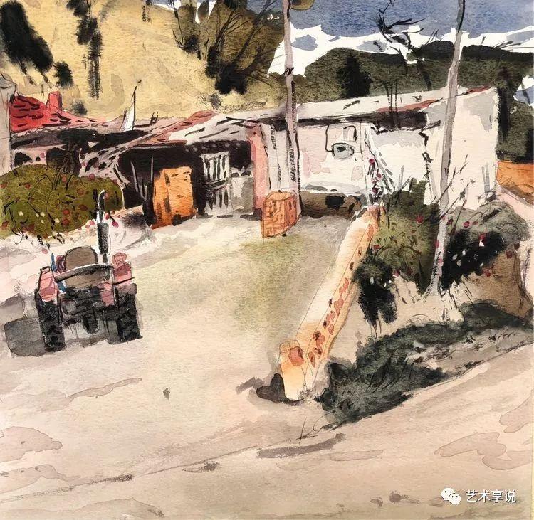 寄性于山水之间 | 塞南水彩 第14张 寄性于山水之间 | 塞南水彩 蒙古画廊