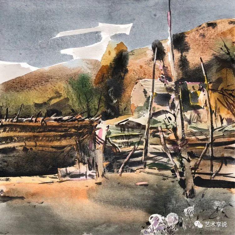 寄性于山水之间 | 塞南水彩 第16张 寄性于山水之间 | 塞南水彩 蒙古画廊