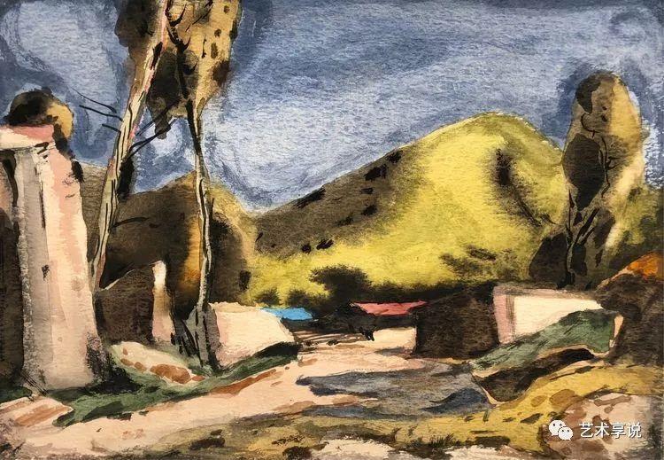 寄性于山水之间 | 塞南水彩 第17张 寄性于山水之间 | 塞南水彩 蒙古画廊