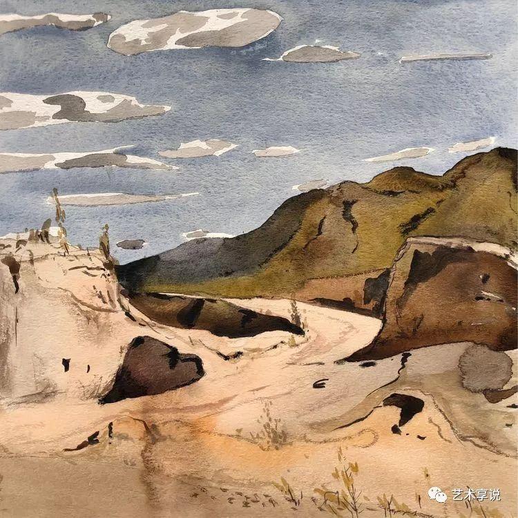 寄性于山水之间 | 塞南水彩 第20张 寄性于山水之间 | 塞南水彩 蒙古画廊