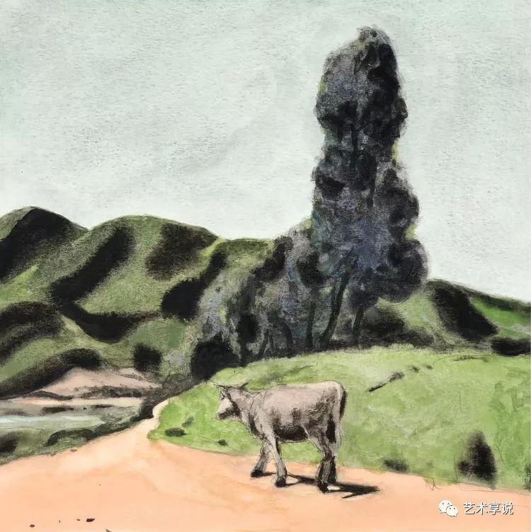 寄性于山水之间 | 塞南水彩 第23张 寄性于山水之间 | 塞南水彩 蒙古画廊