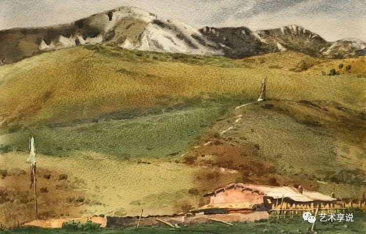 寄性于山水之间 | 塞南水彩 第31张 寄性于山水之间 | 塞南水彩 蒙古画廊
