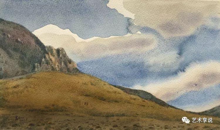 寄性于山水之间 | 塞南水彩 第40张 寄性于山水之间 | 塞南水彩 蒙古画廊