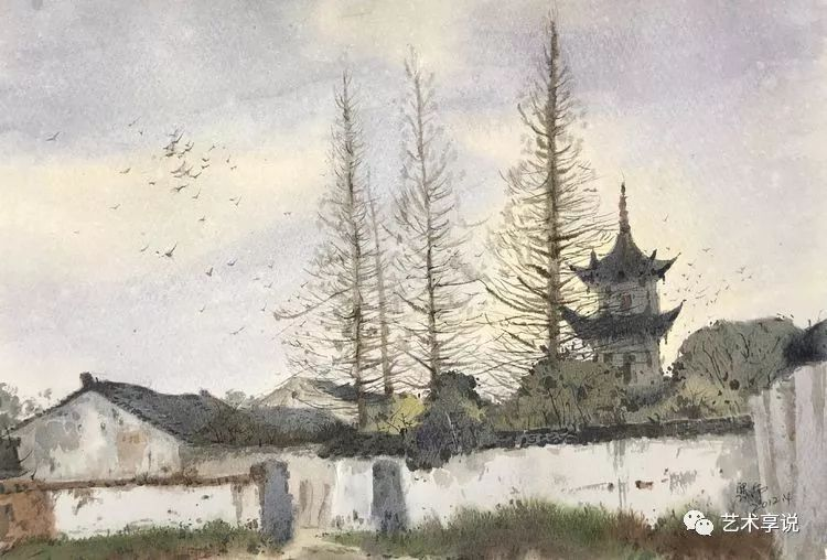 寄性于山水之间 | 塞南水彩 第46张 寄性于山水之间 | 塞南水彩 蒙古画廊