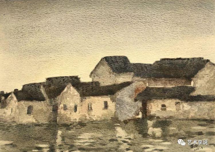 寄性于山水之间 | 塞南水彩 第47张 寄性于山水之间 | 塞南水彩 蒙古画廊