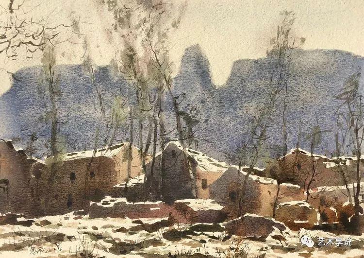 寄性于山水之间 | 塞南水彩 第55张 寄性于山水之间 | 塞南水彩 蒙古画廊