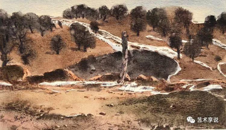 寄性于山水之间 | 塞南水彩 第56张 寄性于山水之间 | 塞南水彩 蒙古画廊