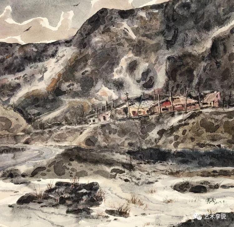 寄性于山水之间 | 塞南水彩 第57张 寄性于山水之间 | 塞南水彩 蒙古画廊