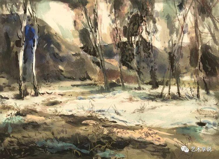寄性于山水之间 | 塞南水彩 第62张 寄性于山水之间 | 塞南水彩 蒙古画廊
