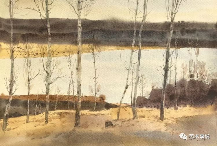 寄性于山水之间 | 塞南水彩 第65张 寄性于山水之间 | 塞南水彩 蒙古画廊