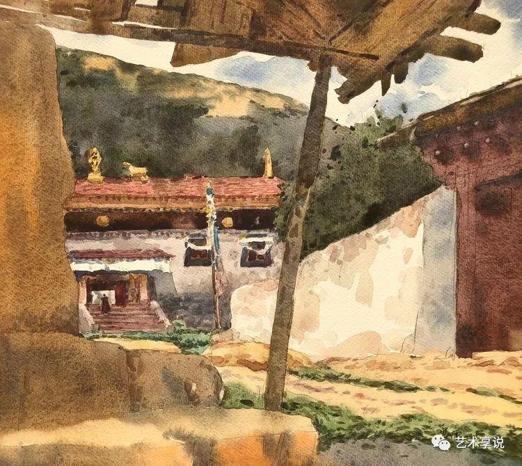 寄性于山水之间 | 塞南水彩 第63张 寄性于山水之间 | 塞南水彩 蒙古画廊