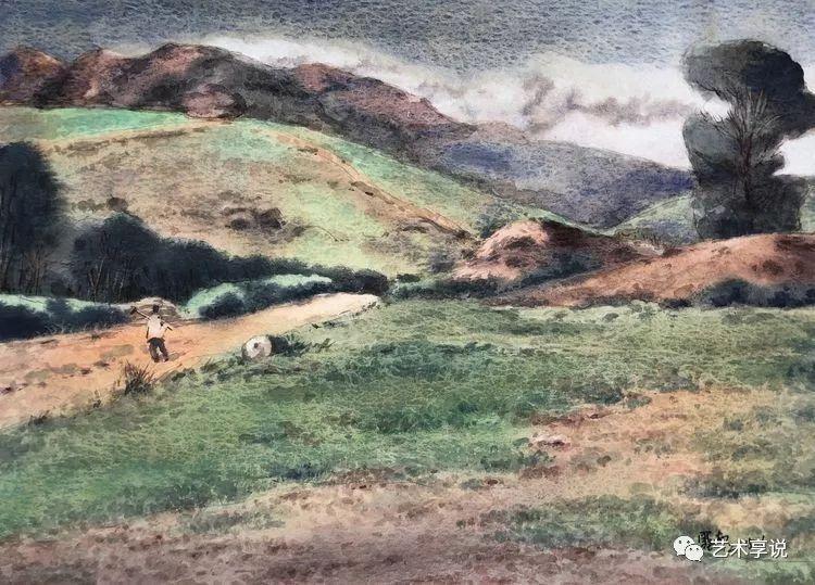 寄性于山水之间 | 塞南水彩 第71张 寄性于山水之间 | 塞南水彩 蒙古画廊