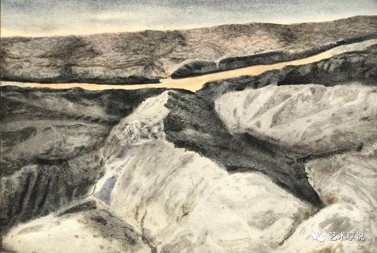 寄性于山水之间 | 塞南水彩 第76张 寄性于山水之间 | 塞南水彩 蒙古画廊