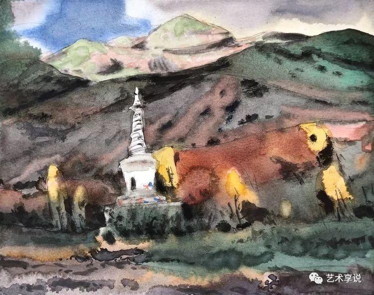 寄性于山水之间 | 塞南水彩 第80张 寄性于山水之间 | 塞南水彩 蒙古画廊