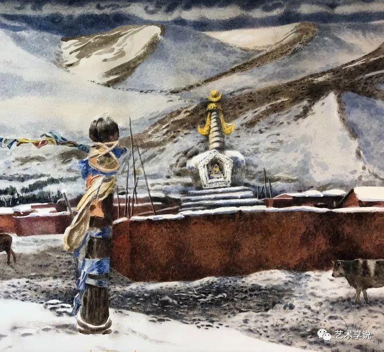寄性于山水之间 | 塞南水彩 第81张 寄性于山水之间 | 塞南水彩 蒙古画廊