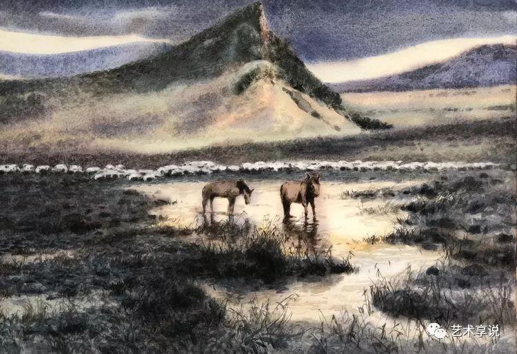 寄性于山水之间 | 塞南水彩 第82张 寄性于山水之间 | 塞南水彩 蒙古画廊