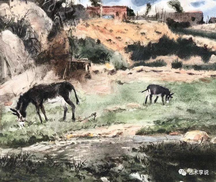寄性于山水之间 | 塞南水彩 第85张 寄性于山水之间 | 塞南水彩 蒙古画廊
