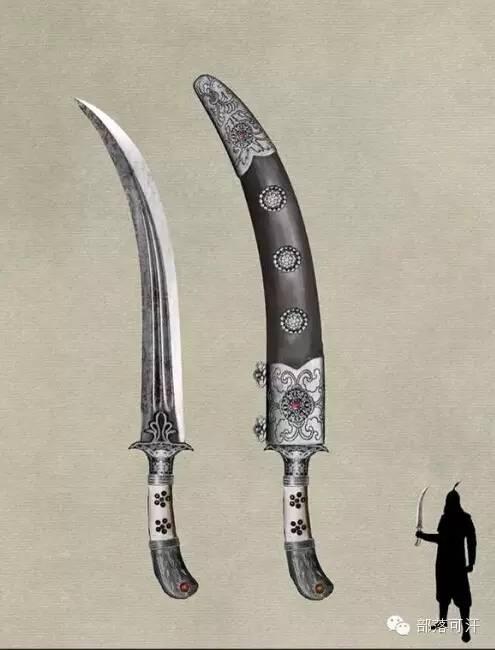 【蒙古战刀】设计师还原古代蒙古战刀兵器图集 第4张 【蒙古战刀】设计师还原古代蒙古战刀兵器图集 蒙古工艺