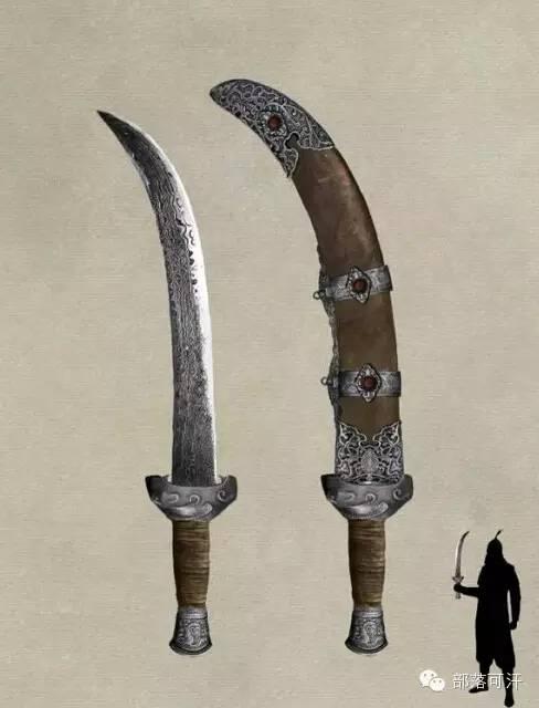 【蒙古战刀】设计师还原古代蒙古战刀兵器图集 第1张 【蒙古战刀】设计师还原古代蒙古战刀兵器图集 蒙古工艺