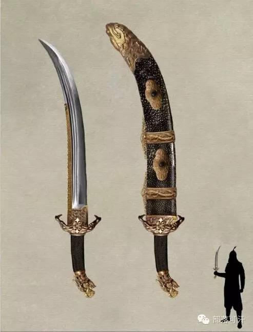 【蒙古战刀】设计师还原古代蒙古战刀兵器图集 第5张 【蒙古战刀】设计师还原古代蒙古战刀兵器图集 蒙古工艺