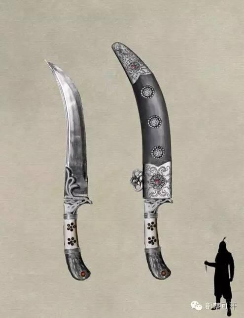 【蒙古战刀】设计师还原古代蒙古战刀兵器图集 第7张 【蒙古战刀】设计师还原古代蒙古战刀兵器图集 蒙古工艺