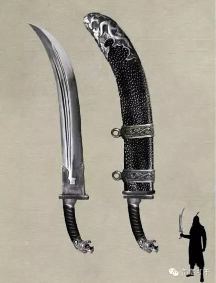 【蒙古战刀】设计师还原古代蒙古战刀兵器图集 第6张 【蒙古战刀】设计师还原古代蒙古战刀兵器图集 蒙古工艺