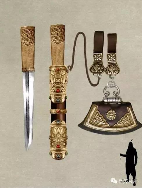 【蒙古战刀】设计师还原古代蒙古战刀兵器图集 第18张 【蒙古战刀】设计师还原古代蒙古战刀兵器图集 蒙古工艺