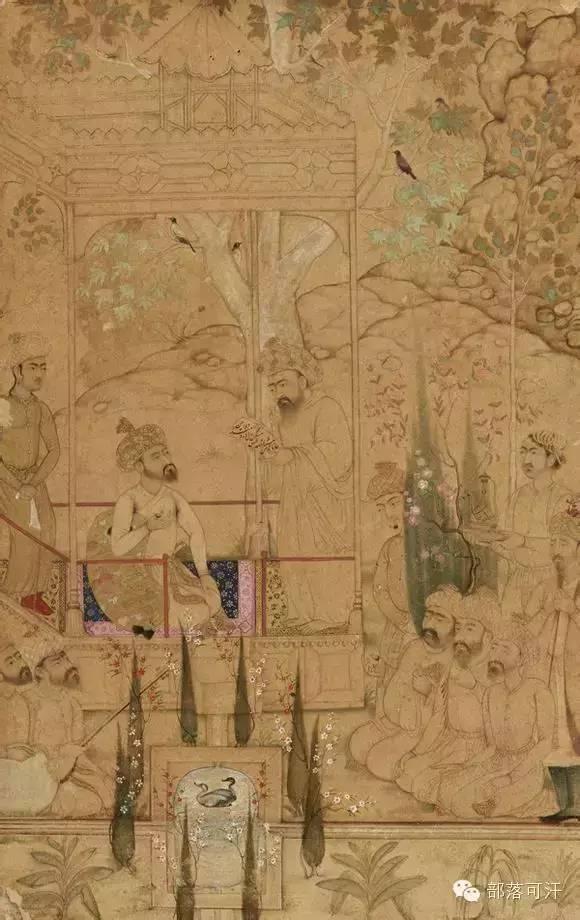 蒙兀尔时代的细密画—蒙古画 第1张 蒙兀尔时代的细密画—蒙古画 蒙古画廊