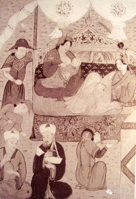 蒙兀尔时代的细密画—蒙古画 第16张 蒙兀尔时代的细密画—蒙古画 蒙古画廊