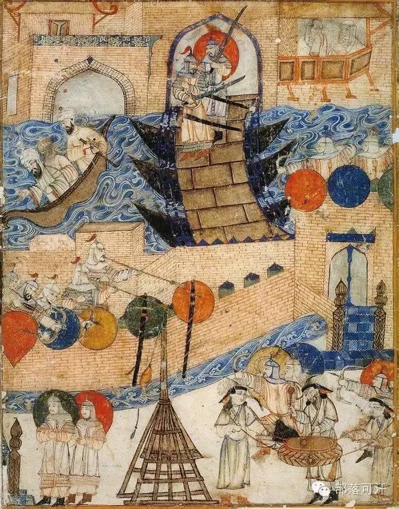蒙兀尔时代的细密画—蒙古画 第21张 蒙兀尔时代的细密画—蒙古画 蒙古画廊