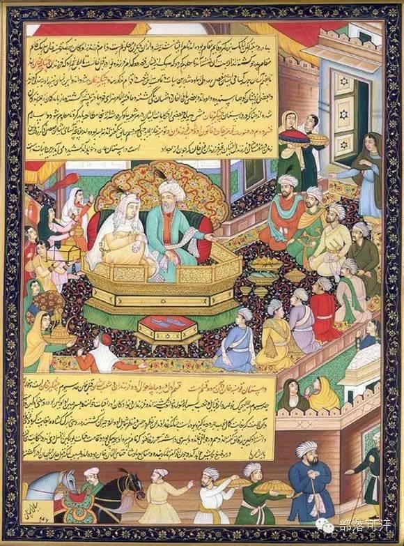 蒙兀尔时代的细密画—蒙古画 第22张 蒙兀尔时代的细密画—蒙古画 蒙古画廊