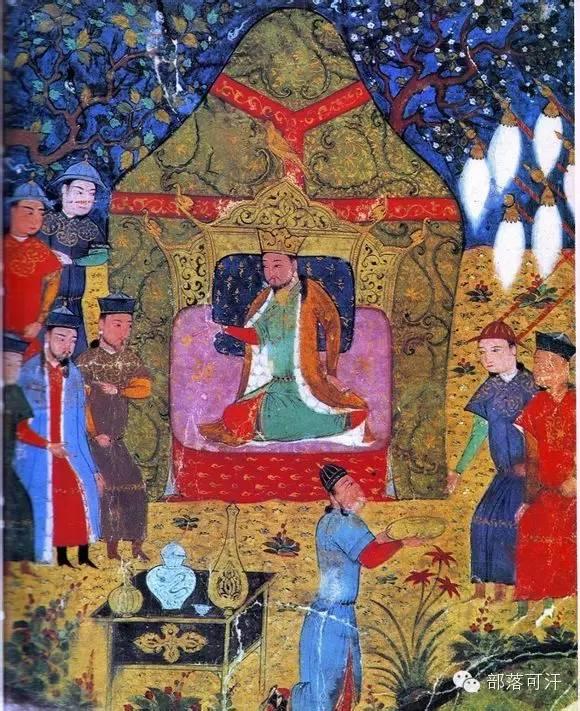 蒙兀尔时代的细密画—蒙古画 第34张 蒙兀尔时代的细密画—蒙古画 蒙古画廊
