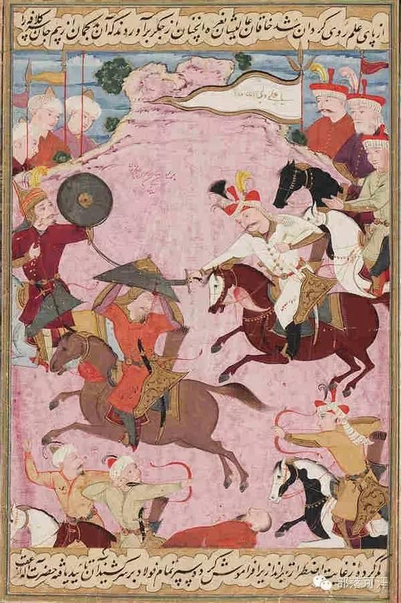蒙兀尔时代的细密画—蒙古画 第33张 蒙兀尔时代的细密画—蒙古画 蒙古画廊