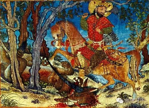 蒙兀尔时代的细密画—蒙古画 第40张 蒙兀尔时代的细密画—蒙古画 蒙古画廊