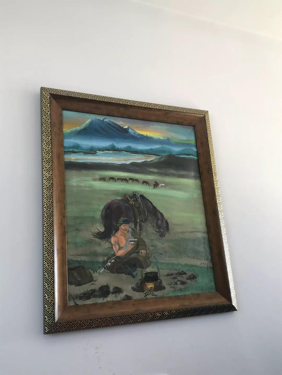 超赞!这位牧民画画雕塑样样通【蒙古文】 第10张 超赞!这位牧民画画雕塑样样通【蒙古文】 蒙古画廊