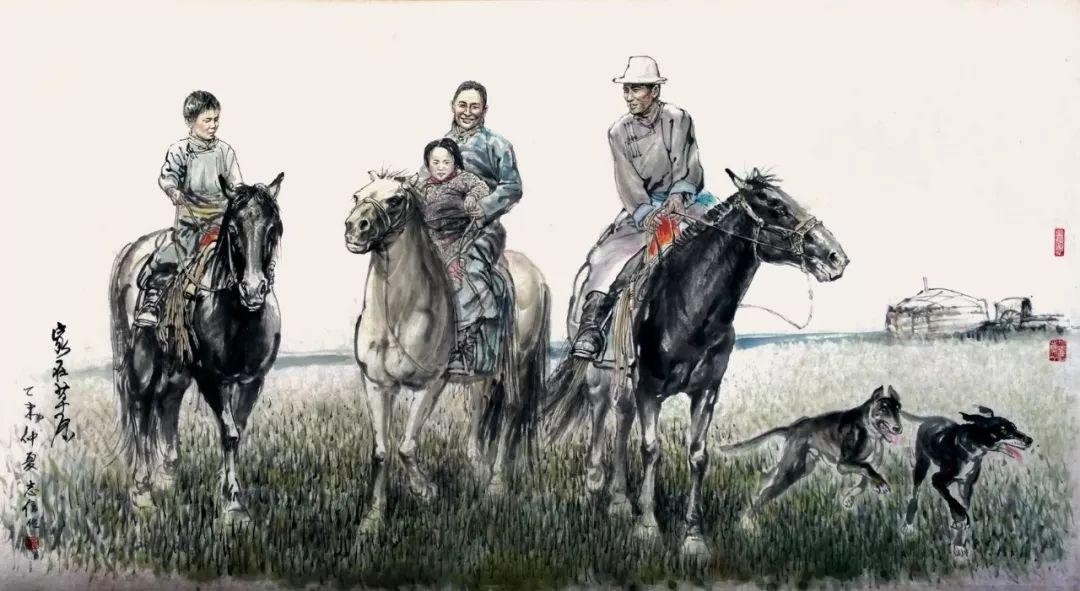 内蒙古画家--彭志信 第43张 内蒙古画家--彭志信 蒙古画廊