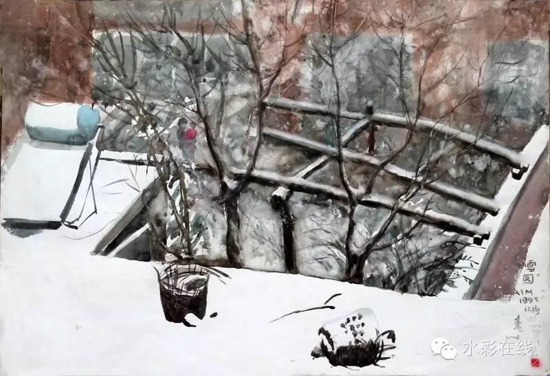 李群水彩作品赏析 第17张 李群水彩作品赏析 蒙古画廊