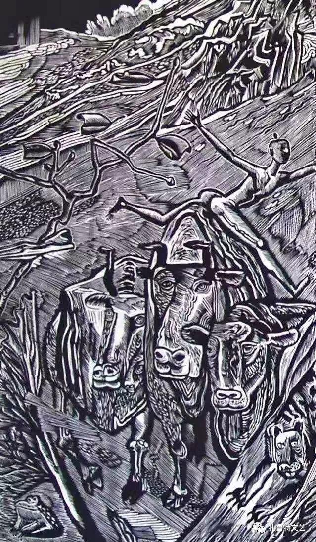 安玉民版画作品欣赏(一) 第13张