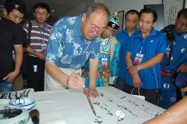 【人物】蒙古书法界首位教授-白·布和(蒙古文) 第1张