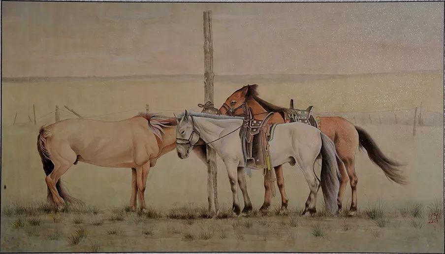 李金风国画作品欣赏 第4张 李金风国画作品欣赏 蒙古画廊
