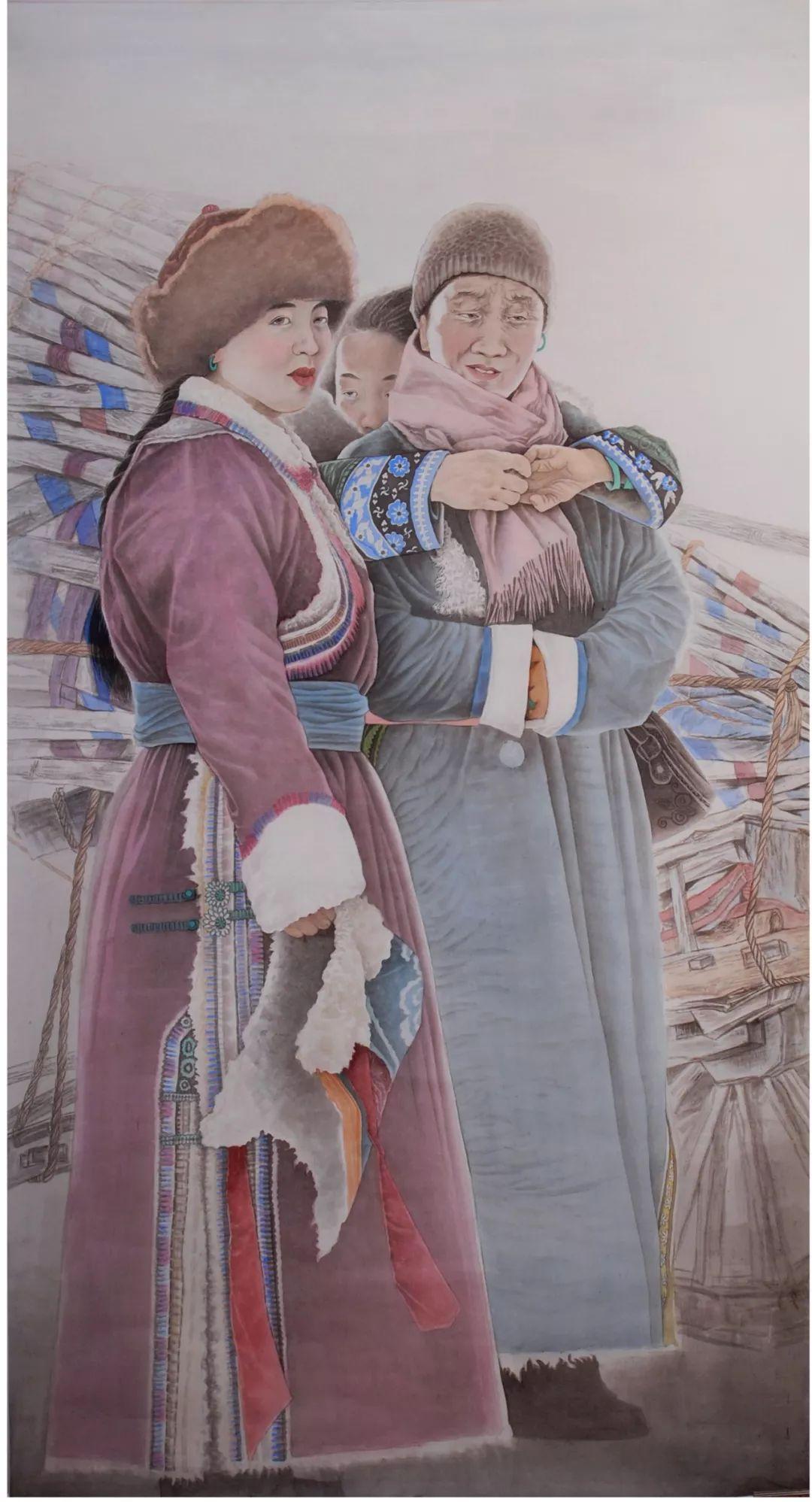 李金风国画作品欣赏 第6张 李金风国画作品欣赏 蒙古画廊