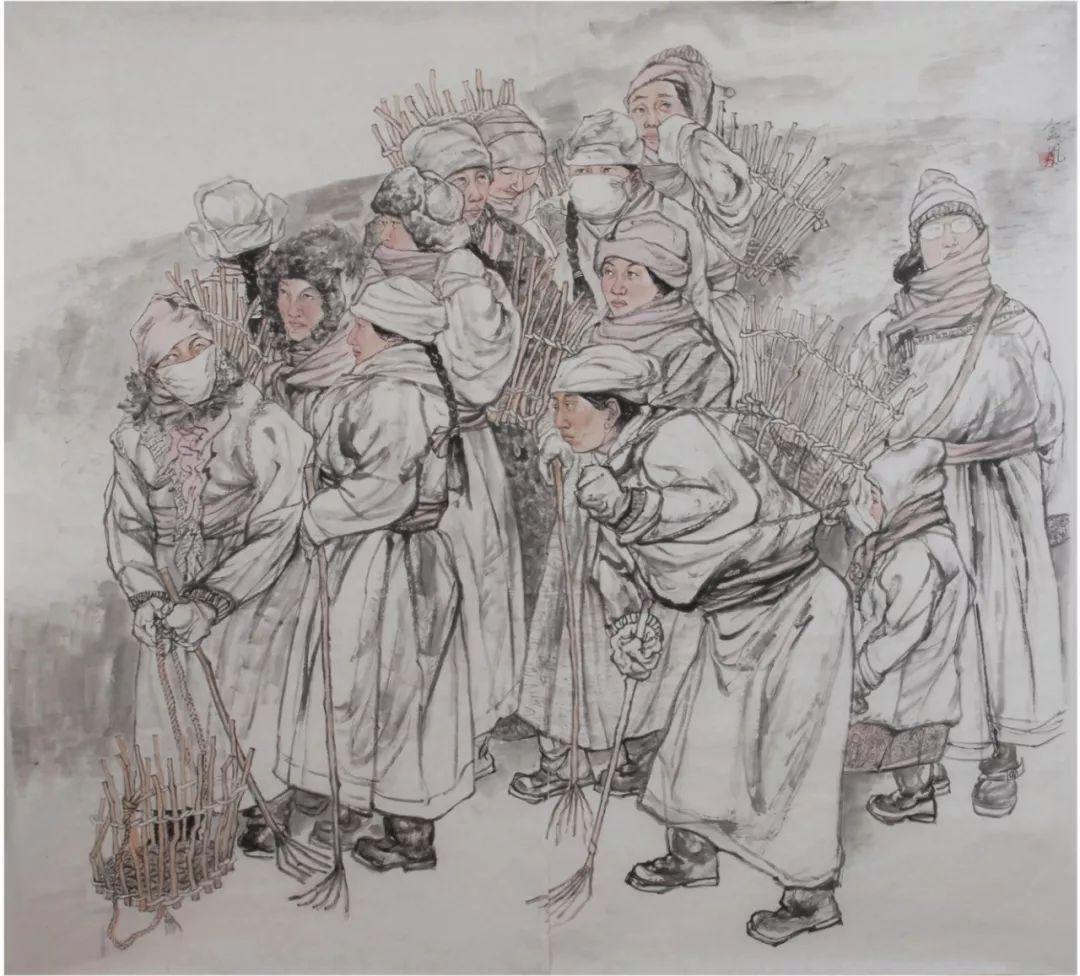 李金风国画作品欣赏 第7张 李金风国画作品欣赏 蒙古画廊