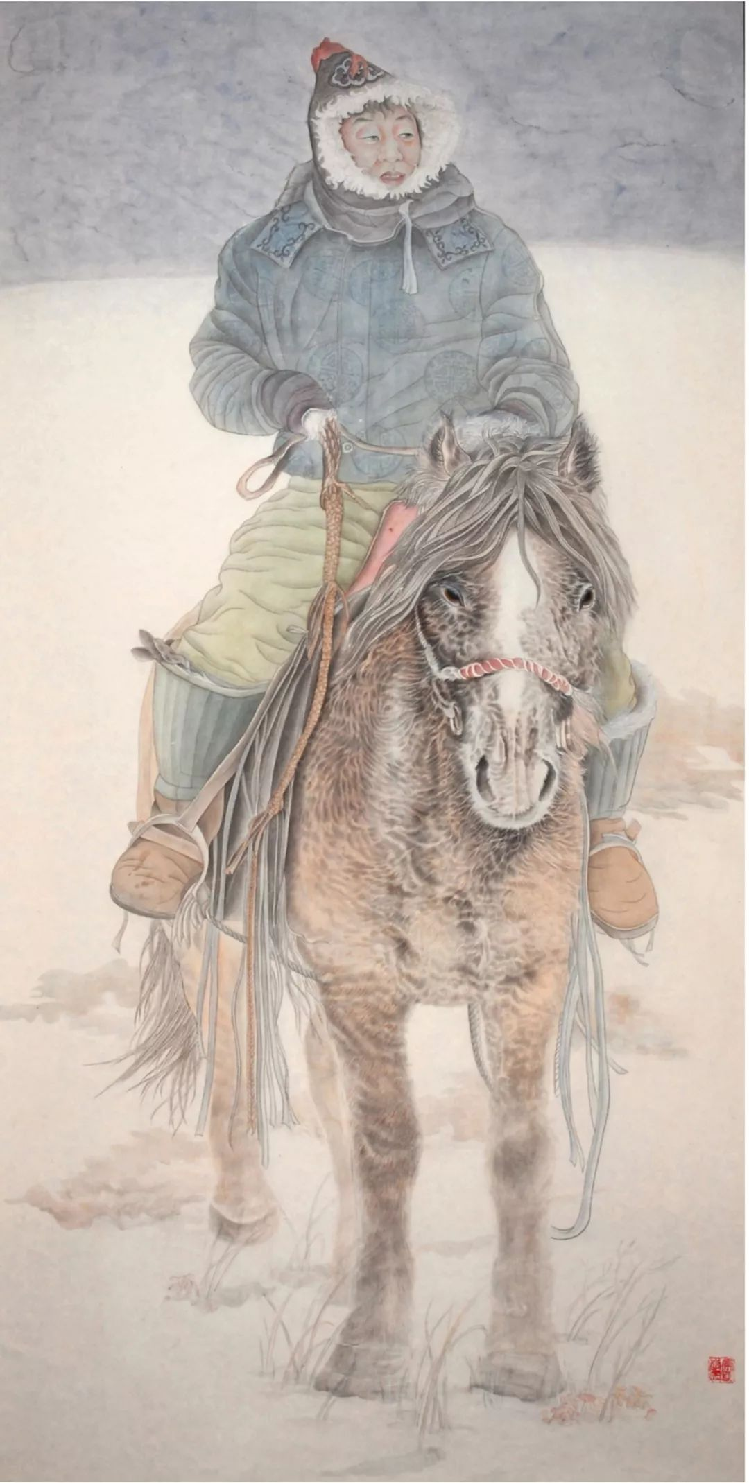 李金风国画作品欣赏 第15张 李金风国画作品欣赏 蒙古画廊