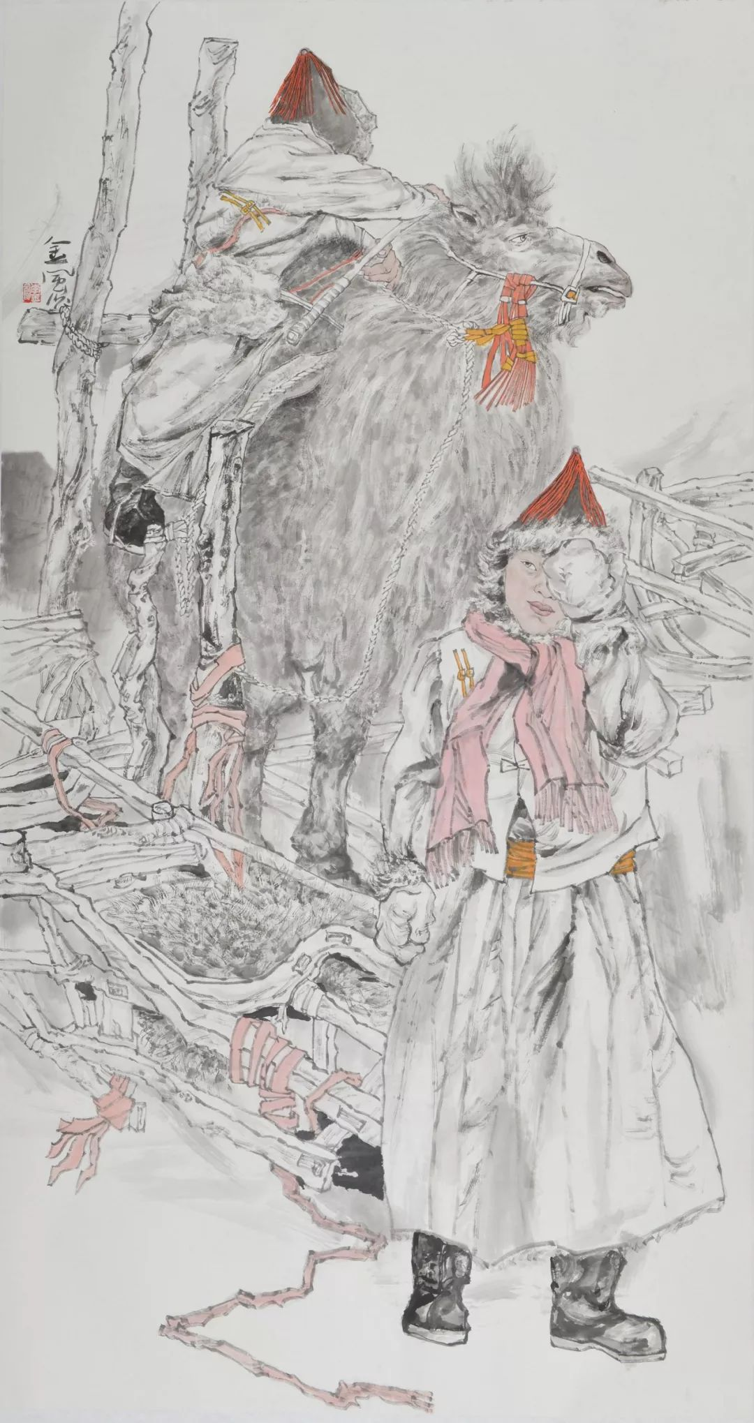 李金风国画作品欣赏 第14张 李金风国画作品欣赏 蒙古画廊