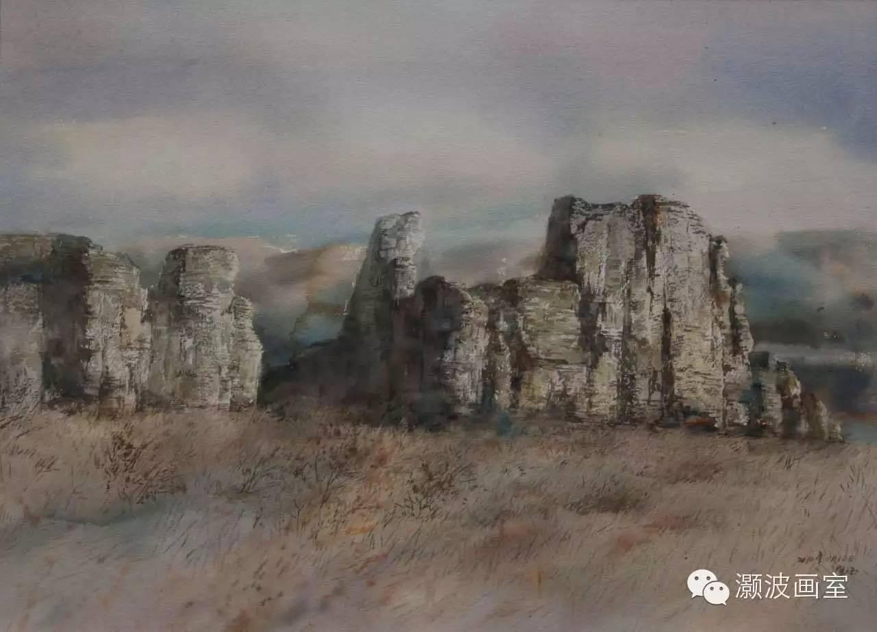 著名蒙古族青年水彩画家宝玉作品欣赏 第5张