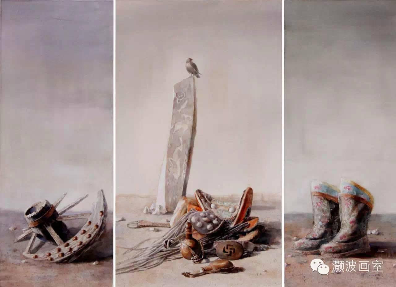 著名蒙古族青年水彩画家宝玉作品欣赏 第4张