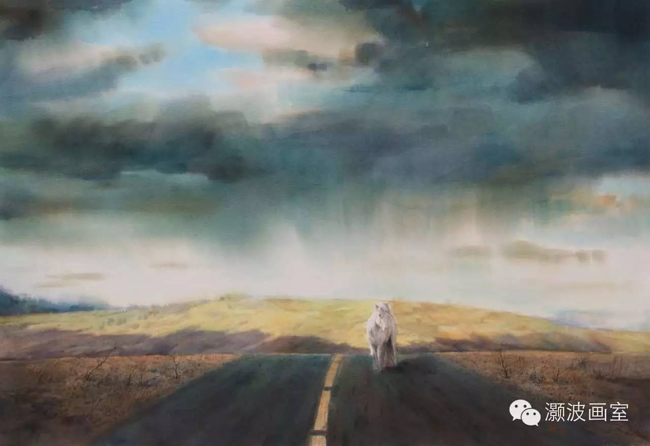 著名蒙古族青年水彩画家宝玉作品欣赏 第8张